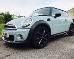 Jasmine has chosen this 2011 / 61 MINI Cooper with Chili Pack in Ice Blue with Low Miles & Full Service History