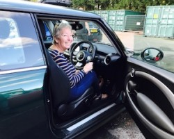 Rick's mum collecting his new toy!  2008/58 MINI Cooper S in British Racing Green – 1 owner, Full History & Sunroof Plus Chili Pack ++