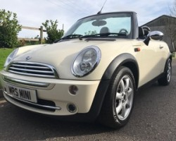 2007 MINI COOPER CONVERTIBLE in Pepper White with Chili Pack & More