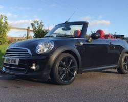 Carol has chosen this 2012 MINI Cooper Convertible AUTOMATIC with Bespoke Red Leather Interior