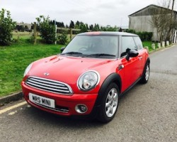 Called Fred the Red, he's gone to live with & be Cherished by  Adam – 2007 MINI Cooper with Chili Pack & Half Red Leather in Chili Red – Just Serviced