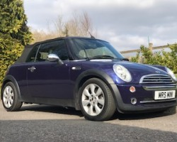 Chloe has chosen this 2005 Mini Cooper Convertible in Black Eyed Purple with Full Leather & Full Service History
