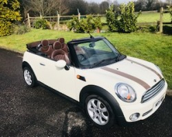 2009 MINI Cooper Convertible with Chocolate Hood & matching Lounge Leather Sports Seats