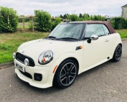 2009 MINI Cooper Convertible in Pepper White with HUGE SPEC
