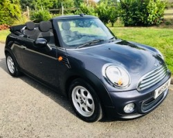 Jacquie has chosen this 2012 MINI One Avenue Convertible in HIGHCLASS GREY (rare colour) with PEPPER PACK
