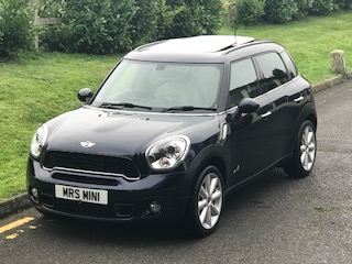 Deposit Taken 2012 MINI Cooper S All 4 Countryman In Cosmic Blue with HUGE SPEC – LITERALLY HUGE SPEC – SUNROOF, NAV, CREAM LEATHER HEATED SEATS