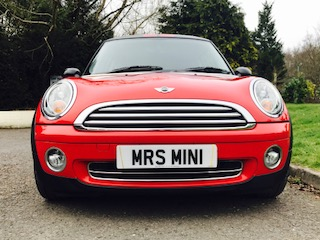 2010 / 60 MINI Cooper Chili Pack in Chili Red with Half Red Leather Sports Seats & Low Miles