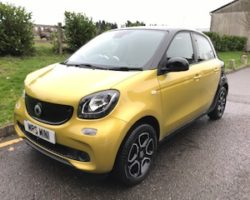 2015 / 64 Smart Forfour 1.0 PRIME (s/s) with 5 Doors In Stunning Yellow