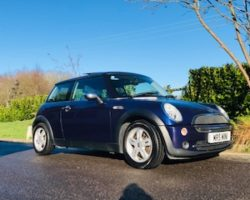 Katie has chosen this 2005 MINI One in Black Eyed Purple with Sunroof & Full Leather Sports Seats & Low Miles for Age 68K