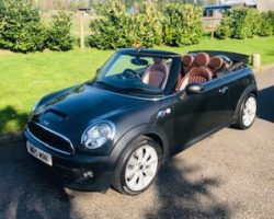 Off to the Isle of Mann for this 2012 MINI Cooper S Convertible in Eclipse Grey with Mault Brown Lounge Leather Heated Sports Seats & LOW MILES + Full Service History