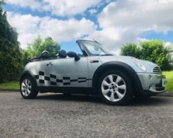 Off to the Isle of White for this 2004/54 MINI One Convertible in Pure Silver with Half Leather Sports Seats in GREAT CONDITION FOR HER AGE