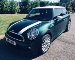 Laura chose this as her 2nd MINI from us – its a 2012 MINI Cooper In British Racing Green with John Cooper Works Aerokit & Low Miles