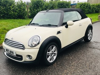 Penny has chosen this   2011 Mini Cooper Convertible in Pepper White with Chili Pack & is planning on collecting it on Tuesday