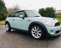 Laura Chose this 2011 Mini Cooper S in Ice Blue with Chili Pack