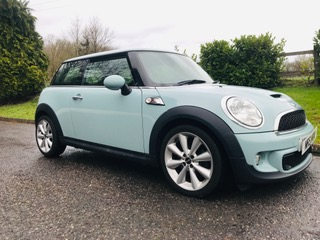 2011 Mini Cooper S in Ice Blue with Chili Pack
