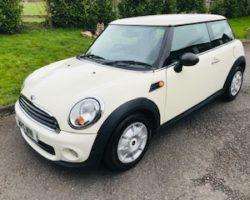 Yasmin has left her deposit on this 2010 / 60 MINI One in Pepper White – Details to follow