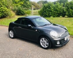 Tracey chose this 2014 / 64 MINI Coupe in Grey with Chili Pack & Low Miles