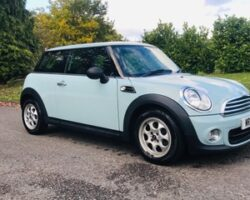 Margaret has pad her deeposit on this supper cute 2013 / 63 MINI One In Ice Blue with Low Miles