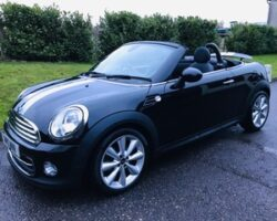 2012 Mini Cooper Roadster Automatic in Black with Sat Nav & Heated Leather Seats
