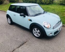 Olivia chose this  2011 MINI One in Ice Blue with low miles – just 26500