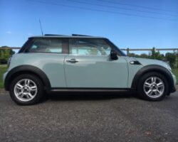 Hayley chose this 2012 MINI One with Pepper Pack & Sunroof in Ice Blue with Low Miles & Service History