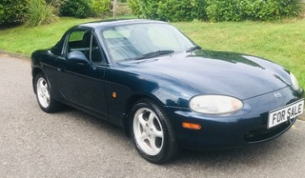 Dave chose this W reg Mazda MX5 – A grand senior in the prime of her life