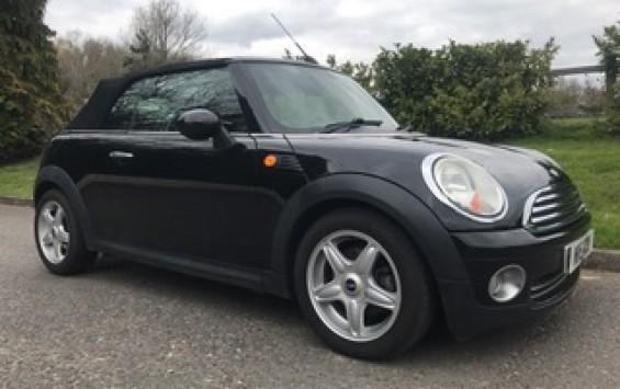 2009 Mini Cooper Convertible in Black with High Spec