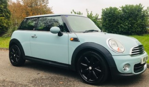 Too late, she is going as a Christmas Present – Wonder if she'll fit under the tree!!  2013 MINI First In Ice Blue with Service History & Low Miles for age