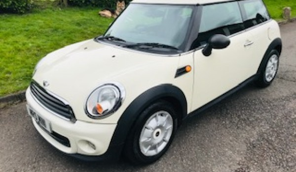 Yasmin chose this 2010 / 60 MINI One in Pepper White – Details to follow
