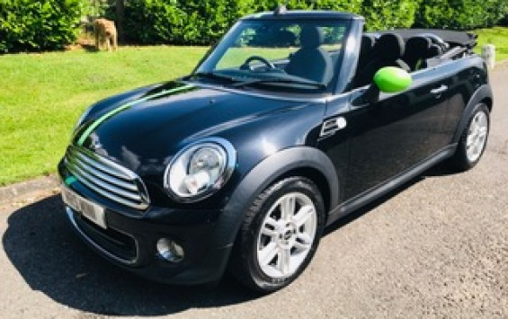 2012 MINI One Convertible in Metallic Midnight Black with Low Miles & Full History