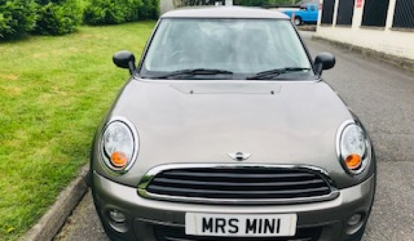 Sharon & Tracey chose this 2011 MINI ONE AUTOMATIC in Velvet Silver with Salt Pack & Low Miles
