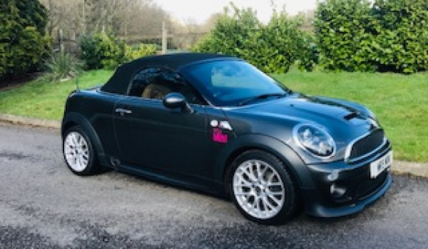 Maggie chose this 2012/61 Mini Cooper S Roadster with John Cooper Works Bodykit & High Spec