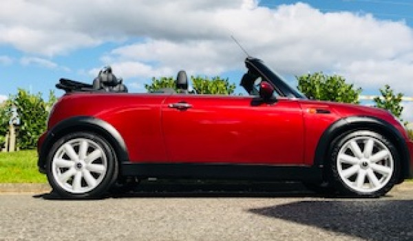 Rosie Has Chosen This 2008 Mini Cooper Convertible In Nightfire Red