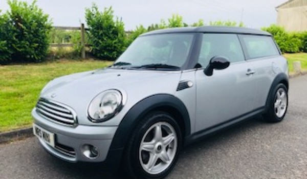Farhana chose this 2007/57 MINI Cooper Clubman In Pure Silver with Pepper Pack & LOW LOW MILES
