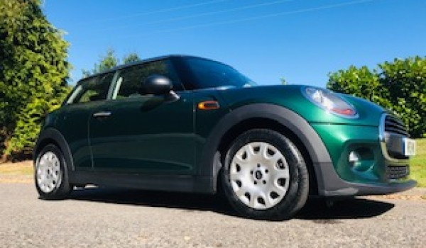 Andrea chose this 2017 MINI One in British Racing Green with Low Miles