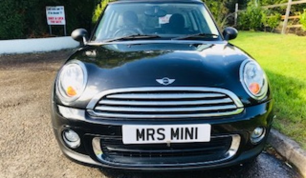Fran's first car will be this 2011 MINI One Auto in Black with Full Service History & Bluetooth