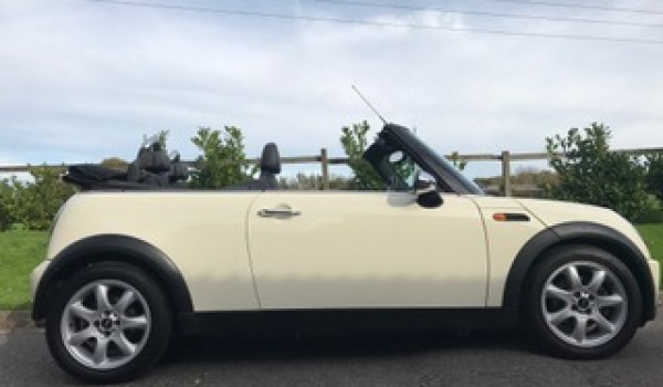 2007 Mini Cooper Convertible In Pepper White With Chili Pack More