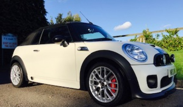 My59jcw Is A 2009 Mini John Cooper Works Convertible In Pepper White
