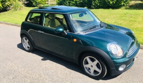Susan Chose this 2009 Mini Cooper in British Racing Green with HUGE SPEC & Lots of Pack + Sunroof