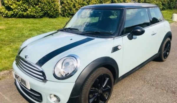 2012 Mini Cooper in Ice Blue with Chili Pack Service History & Low Miles
