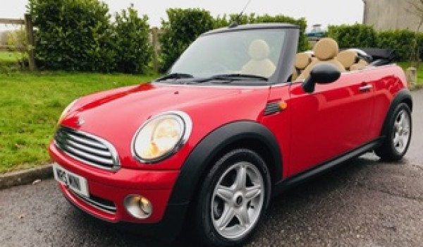 Caroline chose this as her daughter's 21st b'day gift 2010 MINI One Convertible in Chili Red with FULL CREAM LEATHER SPORTS SEATS & Low Miles just 35K