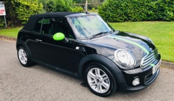 Hugo is shortly going off to his new home!!    Reservation fee paid.  2012 MINI One Convertible in Metallic Midnight Black with Low Miles & Full History