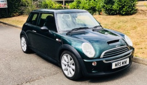 John has chosen this 2003 / 53 MINI Cooper S with Chili Pack & Sunroof in British Racing Green Just 33K Miles