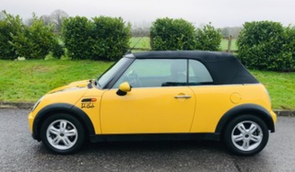 Sue has chosen this 2007/57 Mini Cooper Convertible AUTOMATIC in Mellow Yellow with Pepper Pack