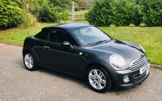 2014 / 64 MINI Coupe in Grey with Chili Pack & Low Miles