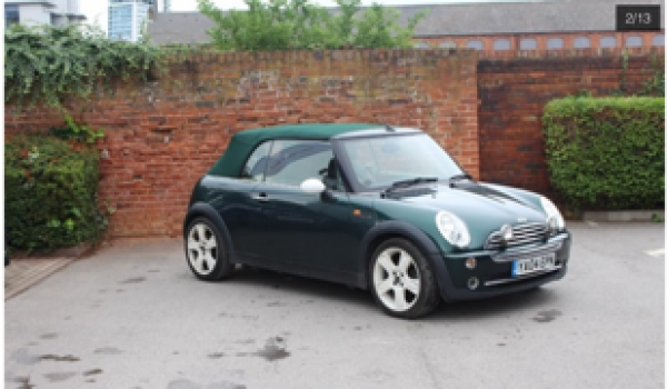 Jan has chosen this 2004 MINI Cooper Convertible in British Racing Green with Full Leather Sports Seats